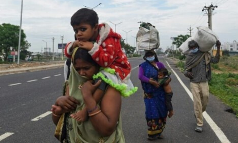 Millions of migrant workers have been left jobless and penniless in India after a shutdown that has sparked an exodus from major cities. — AFP