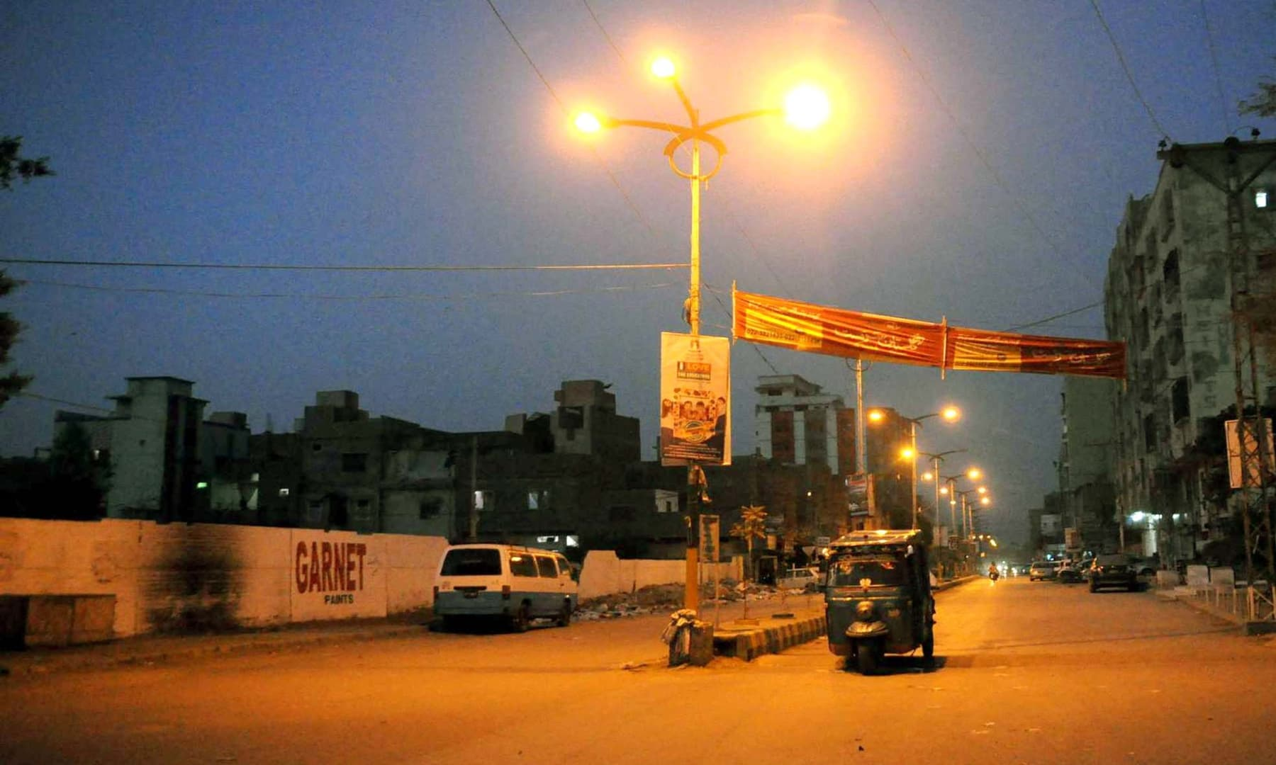 View of a deserted road in Hyderabad. — APP