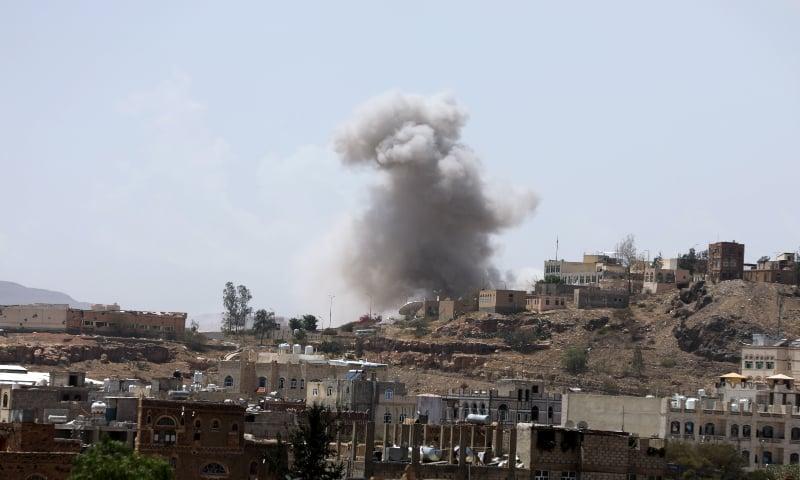 Air strikes hit Houthi-held Yemeni capital Sanaa: witnesses