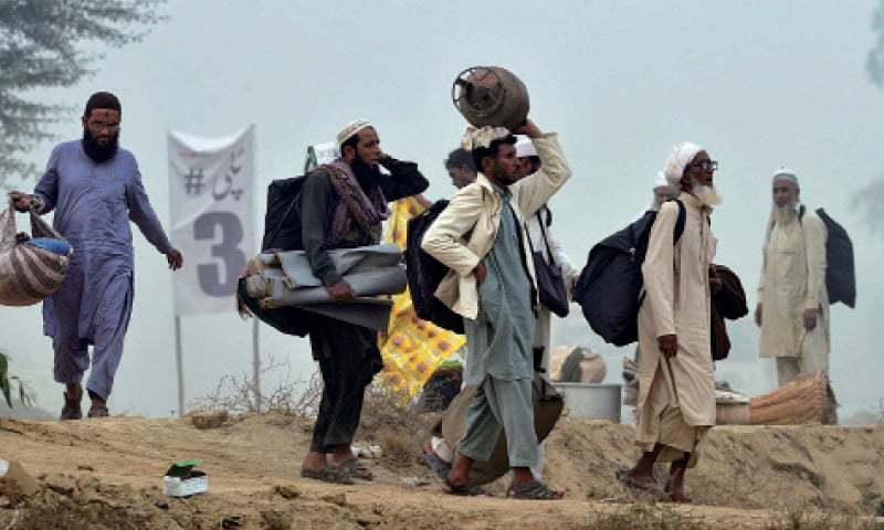 Several attendees of the Tableeghi Jamaat congregation in Raiwind have now tested positive for the virus. — AFP/File