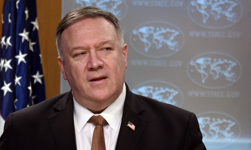 US Secretary of State Mike Pompeo speaks during a news conference at the State Department on Wednesday, March 25, in Washington. — AP