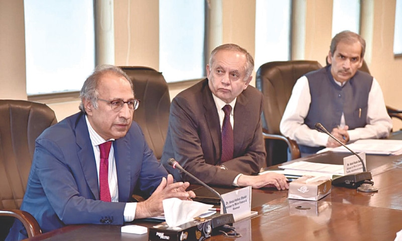 ISLAMABAD: Finance Adviser Abdul Hafeez Shaikh is chairing a meeting through videoconferencing with representatives of the business community on Wednesday.