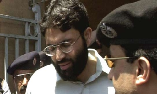 "A schoolmate described Ahmed Omar Saeed Sheikh as ""bright but rather dysfunctional"" student. — AP/File"