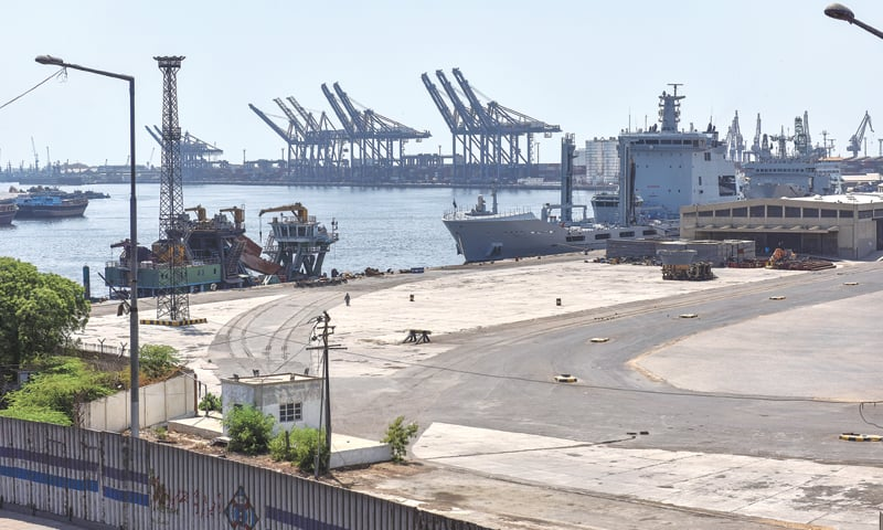 ACTIVITIES at the port have come to a standstill during the lockdown on Friday.—Fahim Siddiqi/White Star