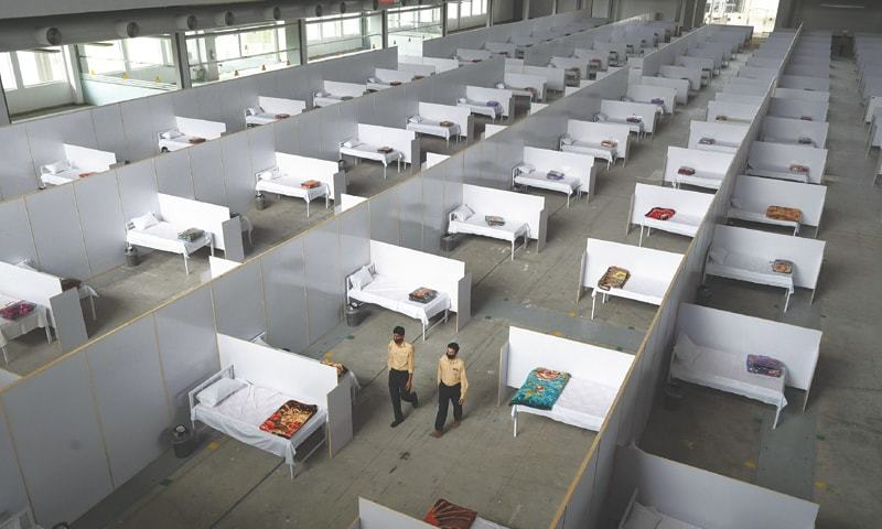 The 50-bed facility has been set up in the newly constructed building. — Dawn/File