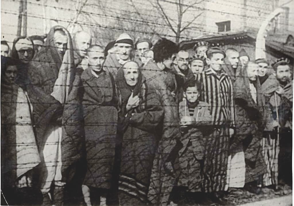 Jewish prisoners at the Auschwitz concentration camp in Poland | Via Reuters