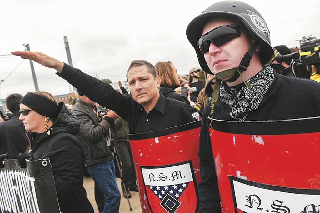 Protestors at a White Lives Matter rally in Shelbyville, United States | Reuters
