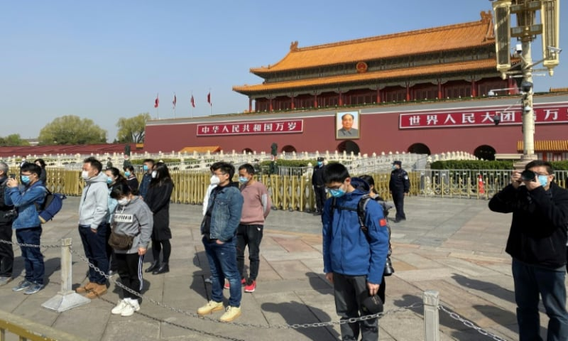 China on Saturday held a national day of mourning for its dead. — AFP