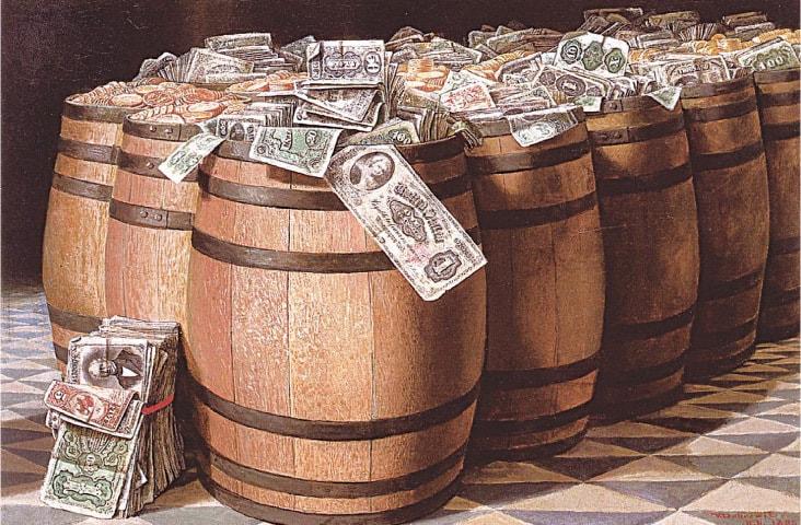 Money To Burn (1893), Victor Dubreuil