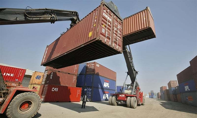Data compiled by Pakistan Customs shows that the total export containers shipped between March 22 till April 3 was 12,690 containers whereas the total export containers that reached the port is 19,625, leaving a stock of 6,935 containers at the port. — Reuters/File