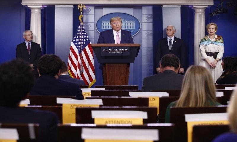 Trump says 'toughest' weeks ahead as coronavirus spreads