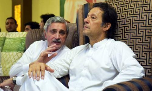 This file photo shows Prime Minister Imran Khan with PTI's bigwig Jahangir Tareen.