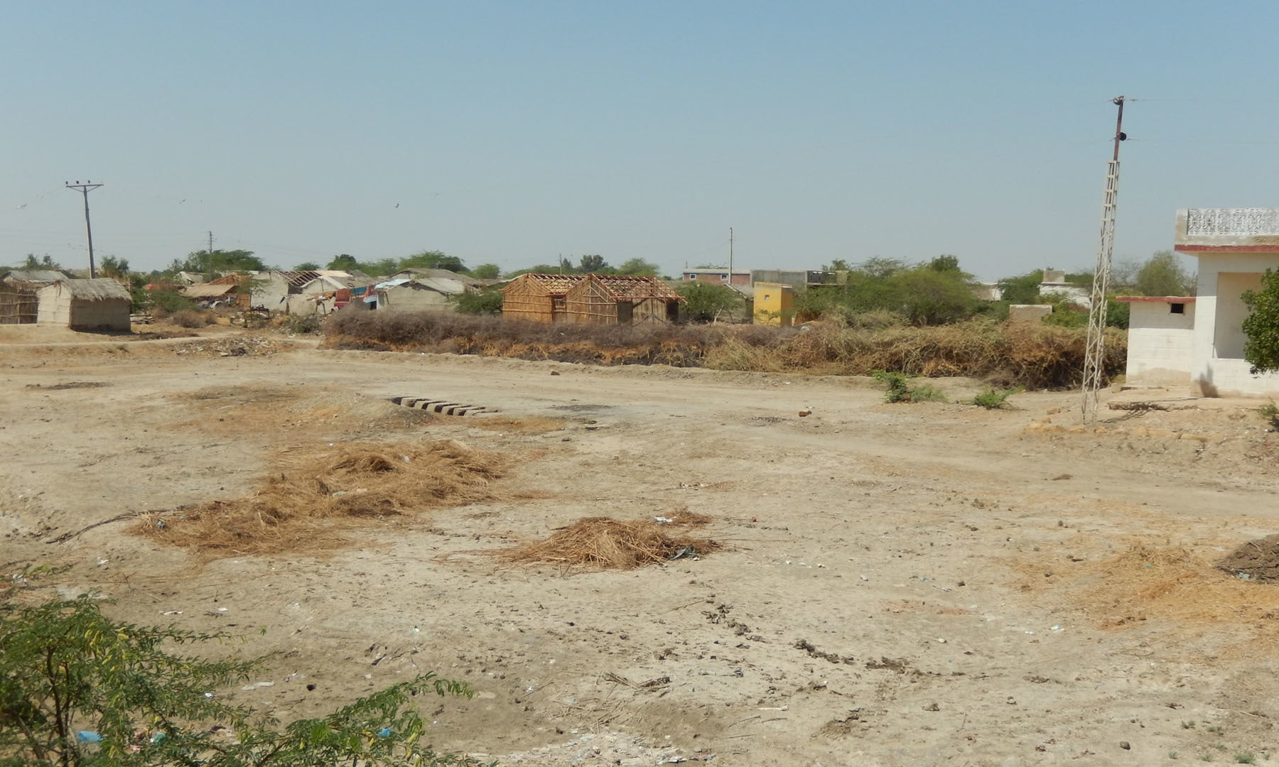 بھگڑا میمن میں کچے مکان