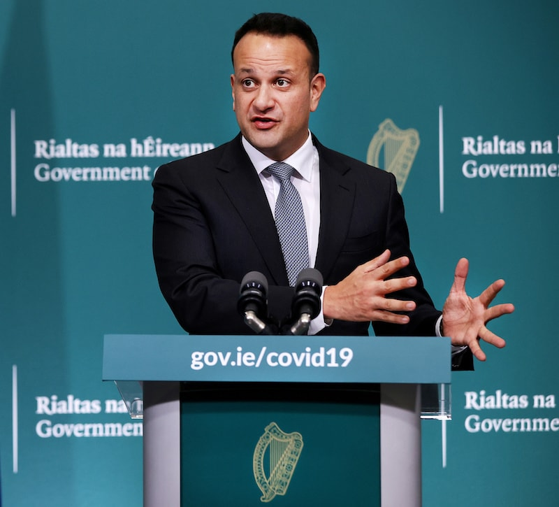 Ireland's prime minister Leo Varadkar speaks during a news conference on the coronavirus situation at Government Buildings in Dublin, Ireland on March 24, 2020. — Reuters/File
