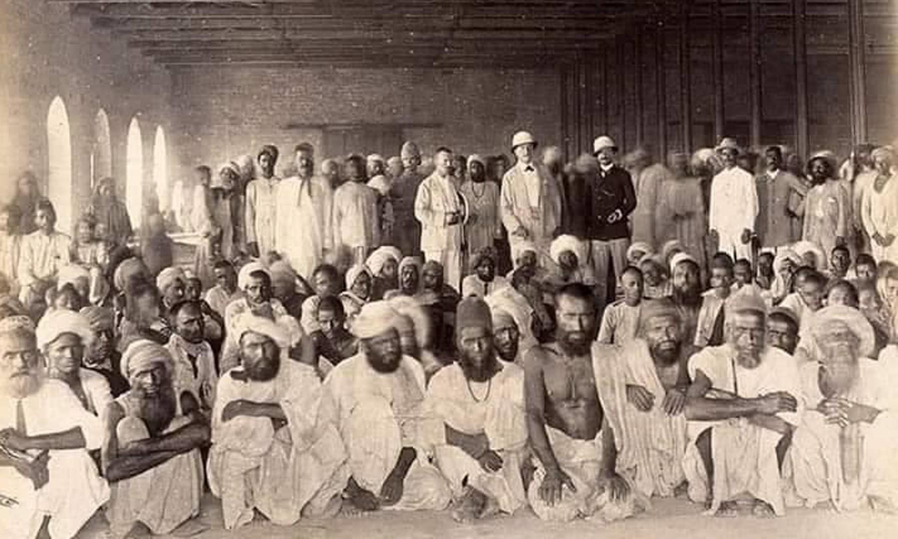 1897ء میں کراچی میں قرنطینہ مرکز —Wellcome Library archive collection