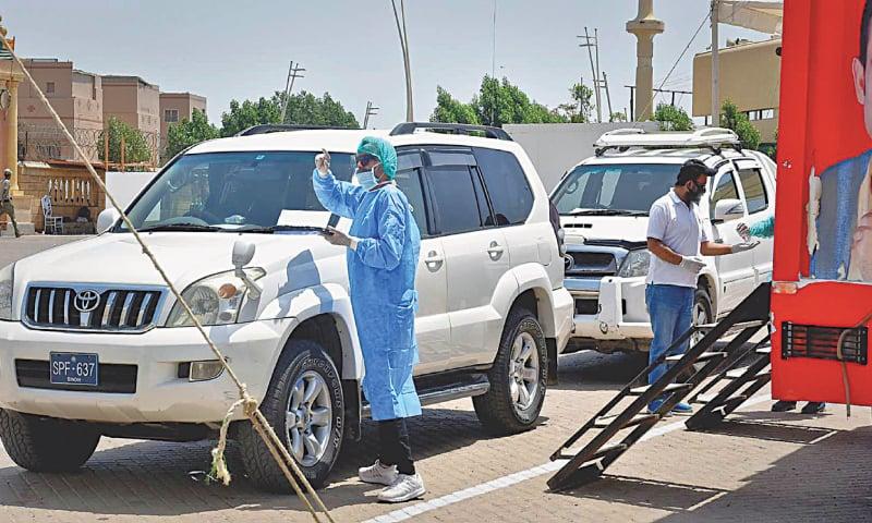 Karachi's corona drive-through screening, testing facility gets  encouraging response