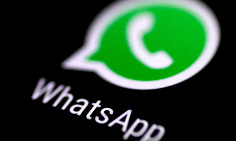 The WhatsApp messaging application is seen on a phone screen August 3, 2017. — Reuters/File