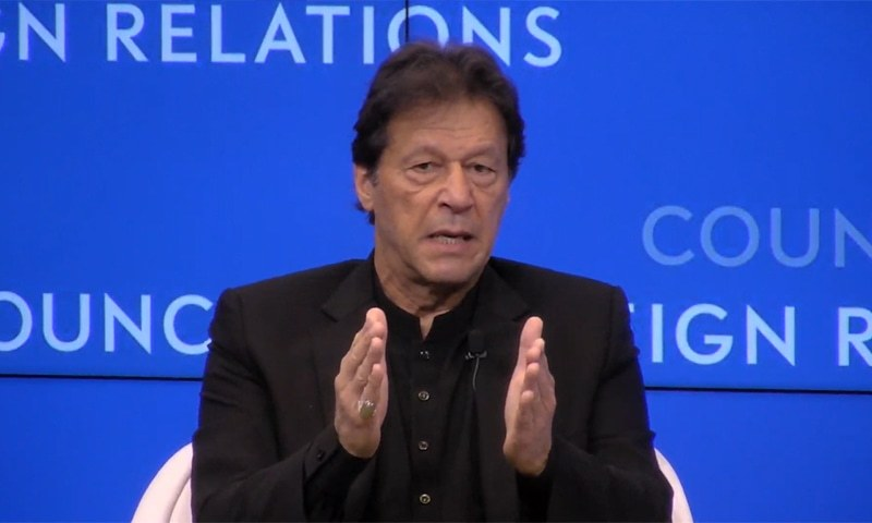 Imran warns those hurling threats over inquiry reports. — WEF/File