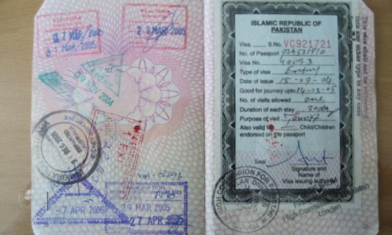 The exemption will be applicable for all visas that have expired since March 15 and are due to expire before April 30. — Dawn/File