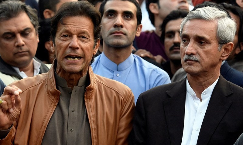 Prime Minister Imran Khan and Jahangir Tareen. — AFP/File
