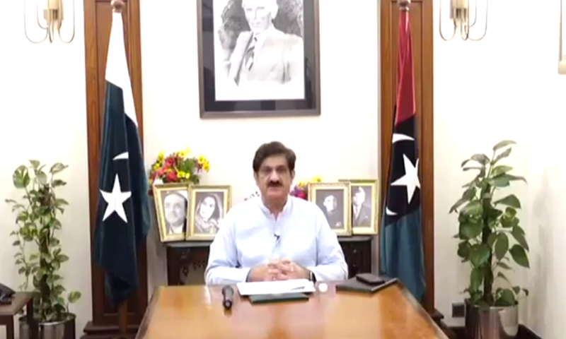 Sindh CM Murad Ali Shah says seven members from a family were infected after one person went out. — DawnNewsTV