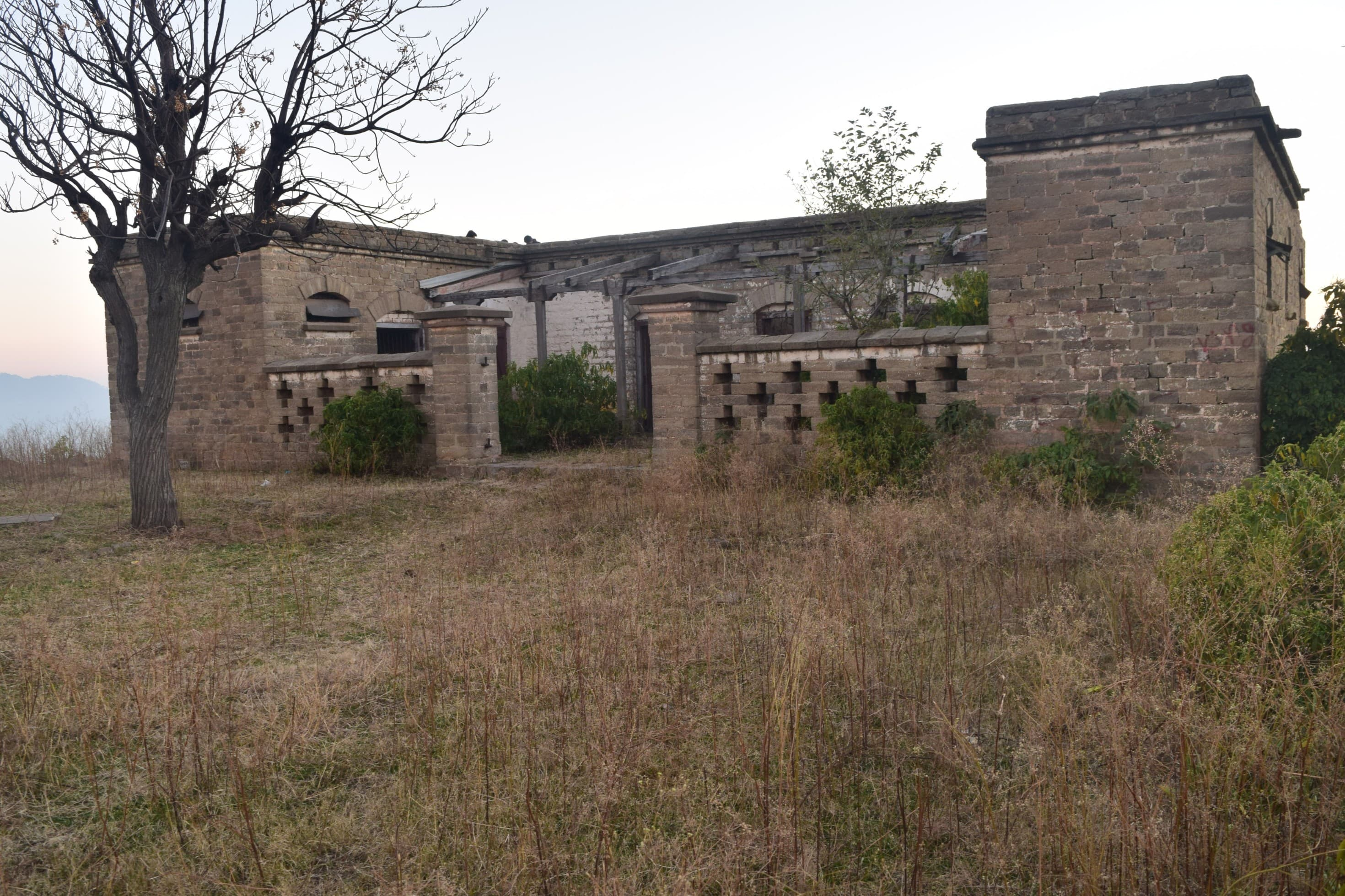 The 19th century abandoned Karor police station.