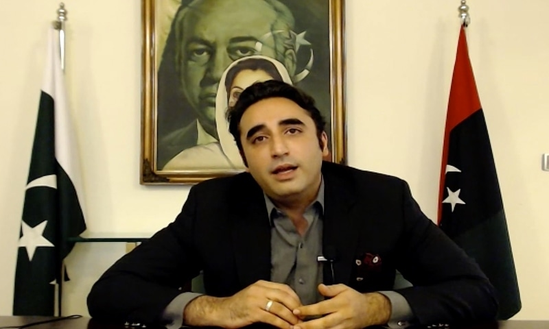 In this screengrab photograph taken on April 13, 2020, opposition lawmaker Bilawal Bhutto-Zardari speaks during a Zoom interview with AFP from Karachi. — AFP