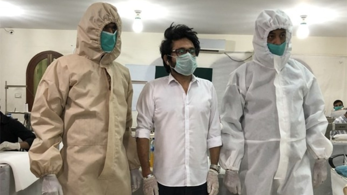 Designer Asim Jofa along with his team has come up with special protective gear for medical staff.