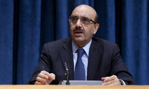 AJK president reminds world that IoK has been under lockdown since August 5 last year.