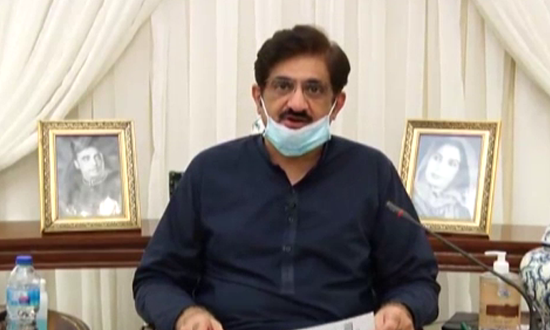 Sindh Chief Minister Murad Ali Shah made the announcement in a video message. — DawnNewsTV
