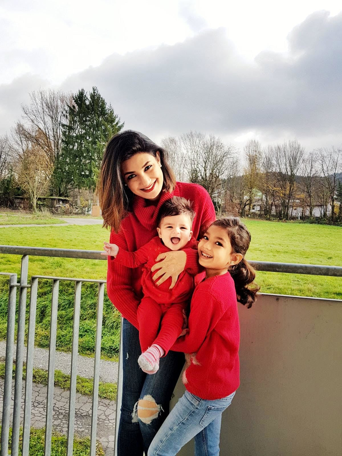 The author with her children