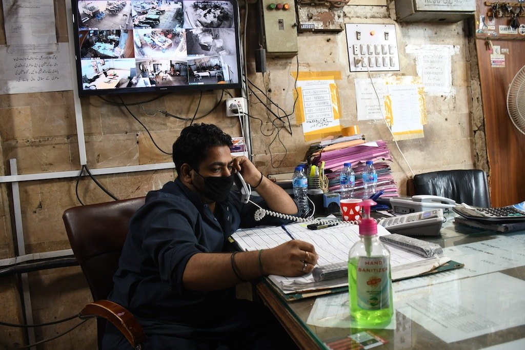 An office-bearer at the Edhi Foundation head office in Karachi | Faysal Mujeeb/White Star