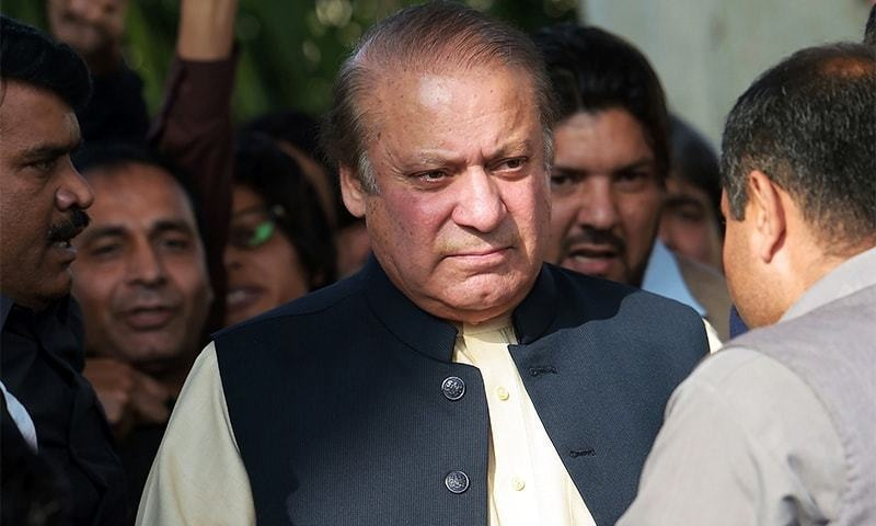 Nawaz Sharif is in London for treatment after having been granted bail on medical grounds.— AFP/File