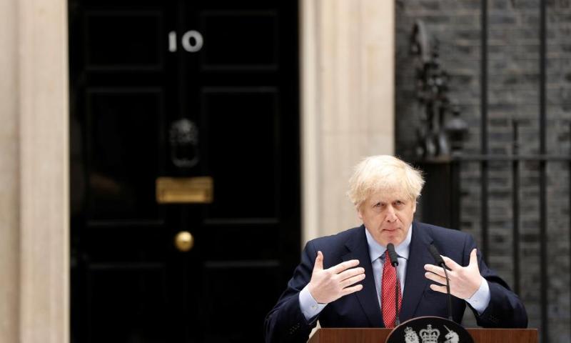 Virus-hit British PM back to work with hope but no lockdown change