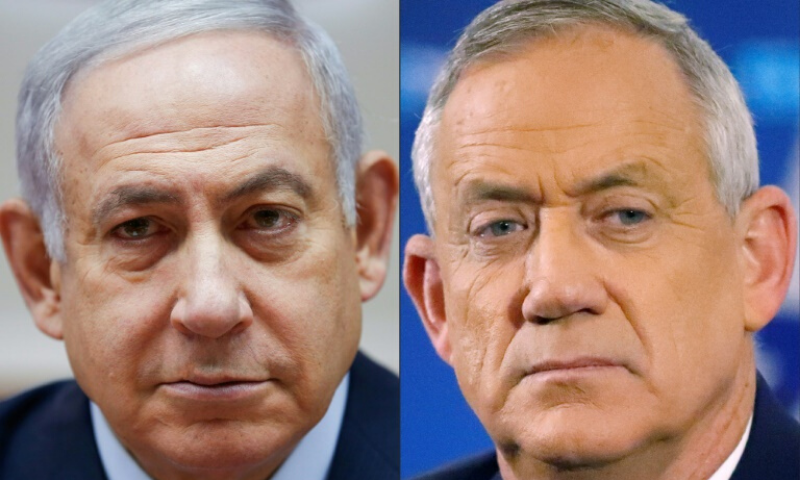 Israeli Prime Minister Benjamin Netanyahu (left) and retired Israeli general Benny Gantz have reached a power-sharing deal that could lead to annexation of much of the West Bank. — AFP
