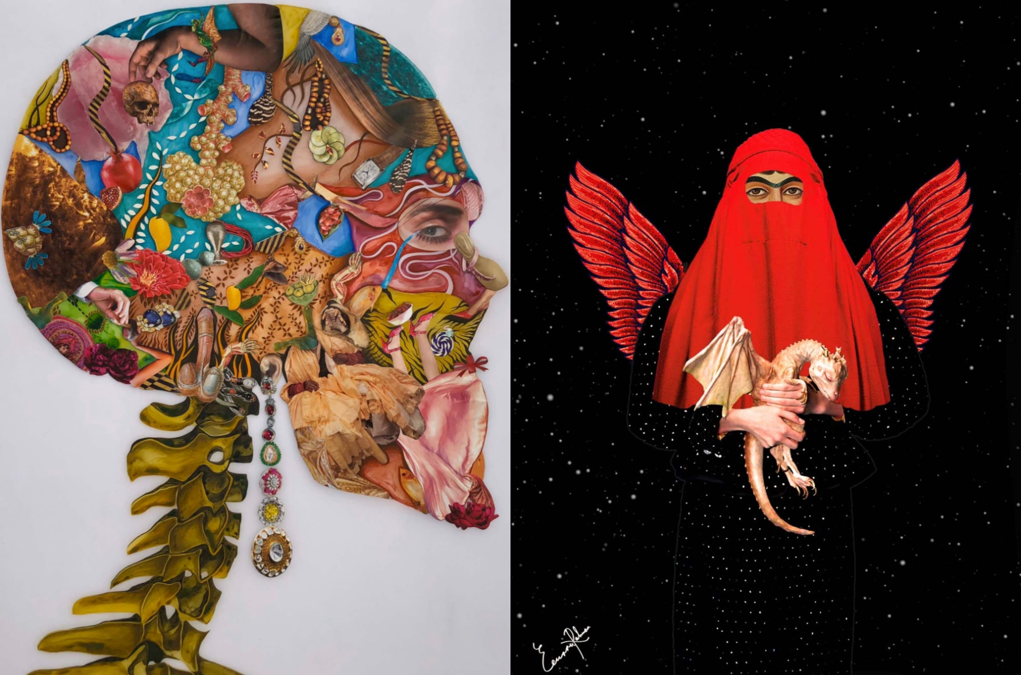 *In My Head* by Haya Zaidi and *Dragonlady of Qajar* by Eemaan Rahman