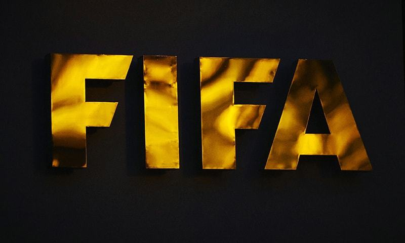 A file photo shows the FIFA logo pictured at the FIFA headquarters in Zurich. — AFP