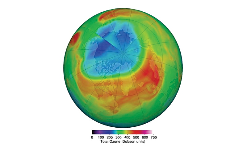 Facts: Record-size ozone hole over Arctic now healed