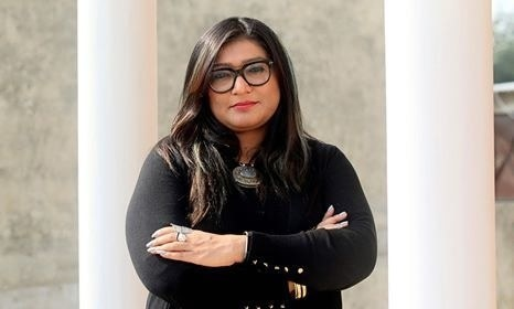 In this picture taken on February 7, 2020, human rights award winner and founder of Pakistan's first cyber-harassment helpline, Nighat Dad, poses for pictures at her office in Lahore. — AFP Photo