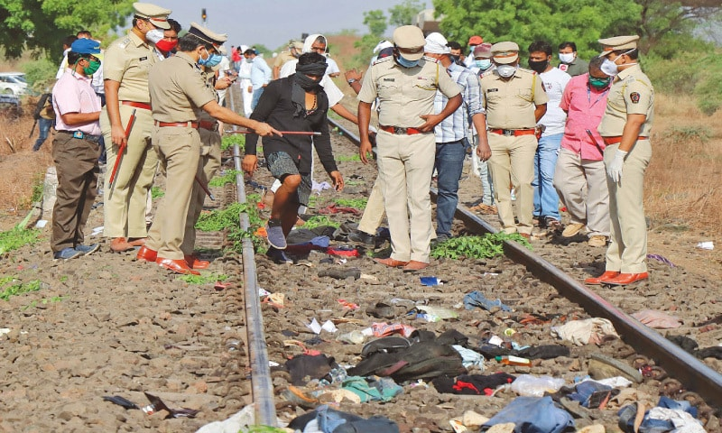 Migrant workers crushed to death by goods train in Aurangabad