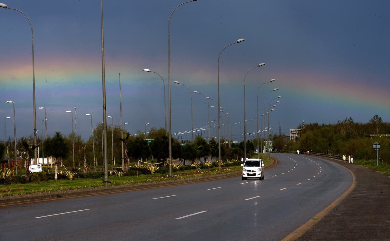 A rainbow over the motorway in Peshawar | Abdul Majeed Goraya, White Star