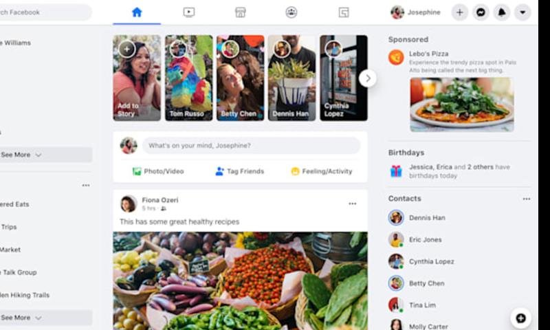 فیس بک کی ری ڈیزائن ویب سائٹ اب تمام صارفین کے لیے دستیاب