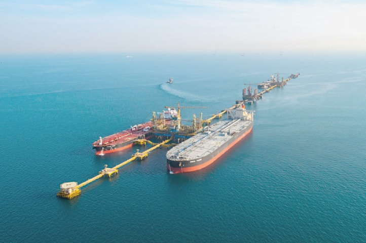 A view of Ras Tanura terminal — the largest oil export terminal in the world — is seen in this file photo.