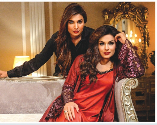 Amna Ilyas with Meera in Baaji (2019)