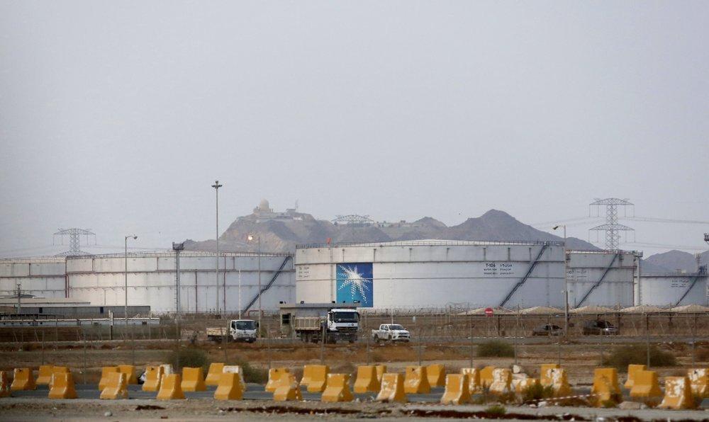 Storage tanks are seen at the North Jiddah bulk plant, an Aramco oil facility, in Jeddah, Saudi Arabia. — AP/File