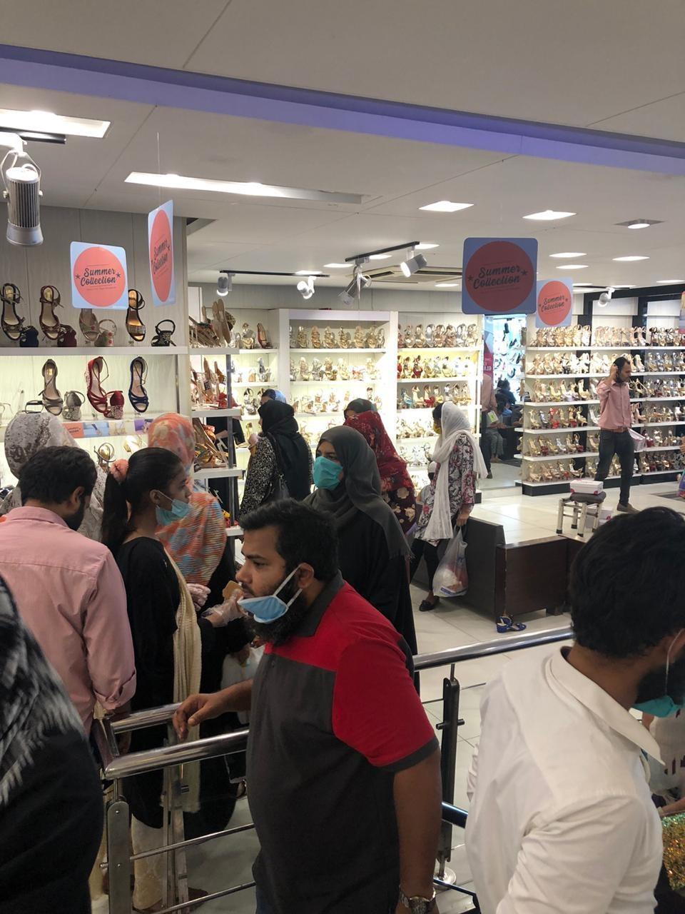 One of the stores sealed in Karachi. — Photo courtesy: Commissioner Karachi