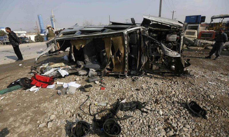 Truck bomb in eastern Afghan city kills 5, Taliban claim responsibility