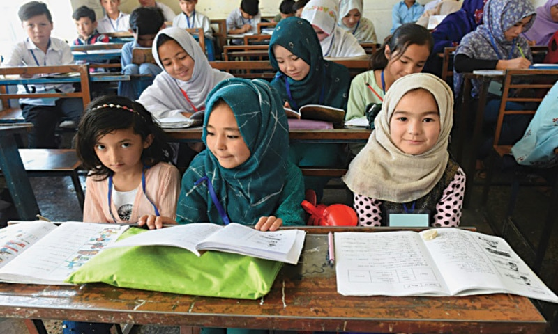 Hazara children at school in the enclave of Hazara Town  in Quetta | AFP