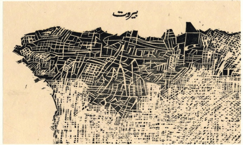 Beirut, From The Series 'These Cities Blotted Into The Wilderness'(2003), Zarina Hashmi