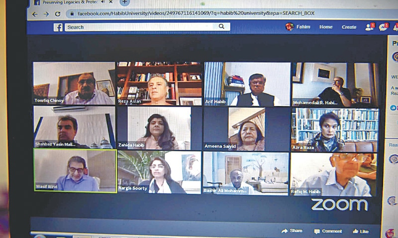 PARTICIPANTS in the webinar held at Habib University on Friday evening. — White Star